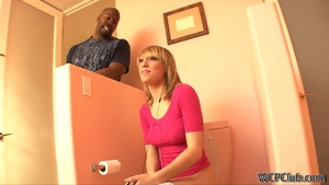 Blonde haired Lily Labeau interracial pounding at casting