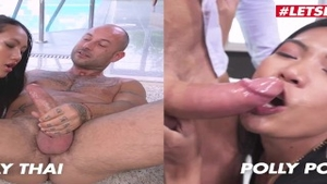 Asian slut Polly Pons really enjoys hardcore ramming hard