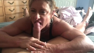 POV hardcore sex in company with muscled blonde hair