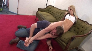 Super sexy & big ass blonde torture