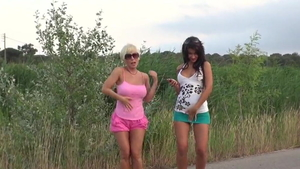 Cum in mouth on the street together with MILF Violet Storm