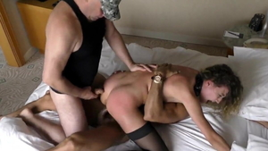 Threesome russian in stockings HD