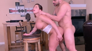 Ramming hard with large tits pawg
