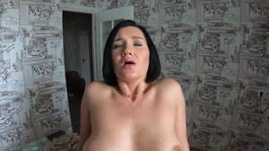 Large boobs deutsch MILF sucking cock in HD