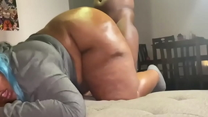 POV fucking together with young ebony amateur