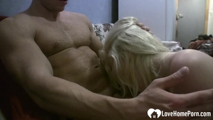 Real sex along with tight blonde hair