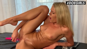 Large tits and sexy blonde homemade fun with toys solo