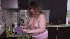 Chubby russian in panties