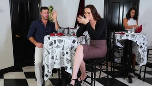 Brunette Adriana Chechik DP at the casting