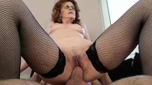 Fucking along with MILF in sexy stockings