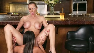 Sloppy fucking with Tanya Tate and Marina Angel