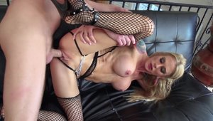 Raw fucking in the company of skinny babe Sarah Jessie