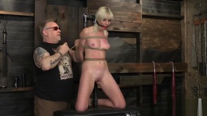 Blonde Marie Mccray goes in for roped